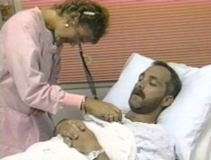 Robb prepares for a scoping procedure in September, 1995.